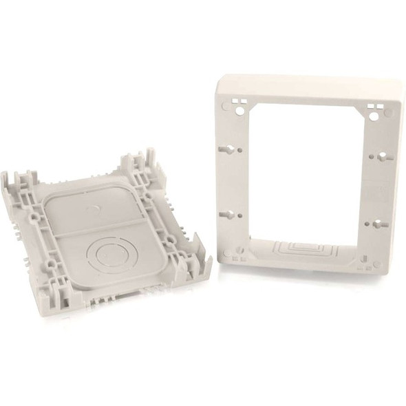 C2G Wiremold Uniduct Double Gang Deep Junction Box - Fog White - 16134