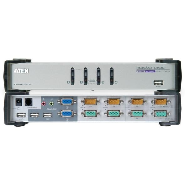 Aten MasterView CS-1744 KVM Switch-TAA Compliant - CS1744