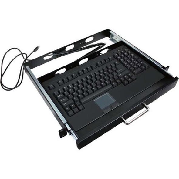 Adesso ACK-730PB-MRP 1U Rackmount Keyboard with Touchpad - ACK-730UB-MRP