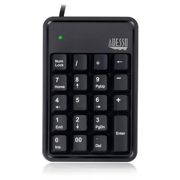 Adesso AKB-600HB - 19-Key Mechanical Keypad with 3-Port USB Hub - AKB-600HB