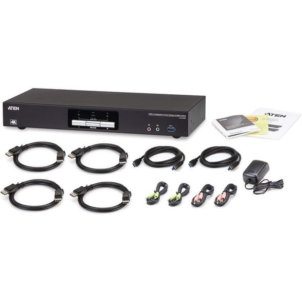 ATEN 2-Port USB 3.0 4K DisplayPort Dual Display KVMP Switch-TAA Compliant - CS1942DP