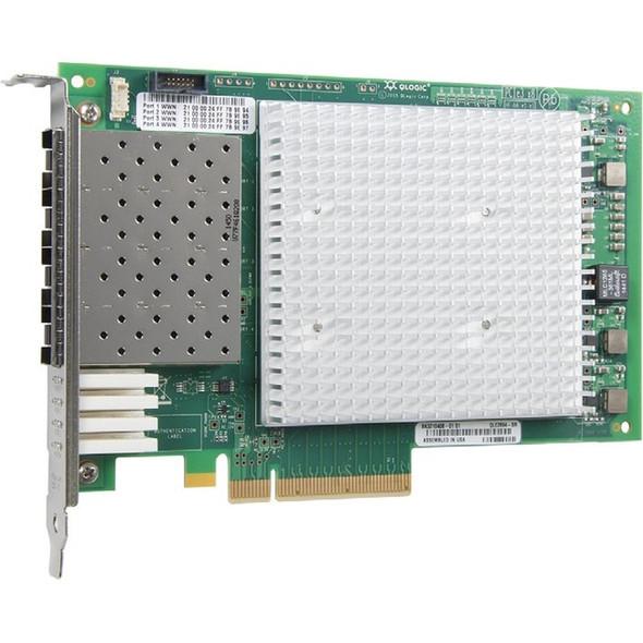 QLogic Enhanced Gen 5, Quad-Port, 16Gbps Fibre Channel-to-PCIe Adapter - QLE2694-SR-CK