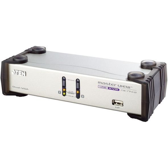 Aten CS1742 2-Port Dual-View KVM Switch-TAA Compliant - CS1742