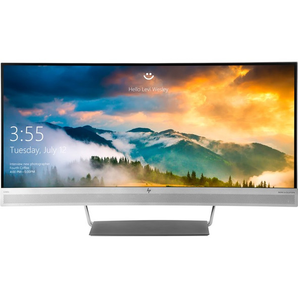 """HP Business S340c 34"""" UW-QHD Curved Screen LED LCD Monitor - 21:9 - V4G46A8#ABA"""