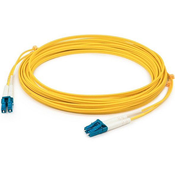 1m LC (Male) to LC (Male) Straight Yellow OS2 Duplex Fiber OFNR (Riser-Rated) Patch Cable - ADD-LC-LC-1M9SMF