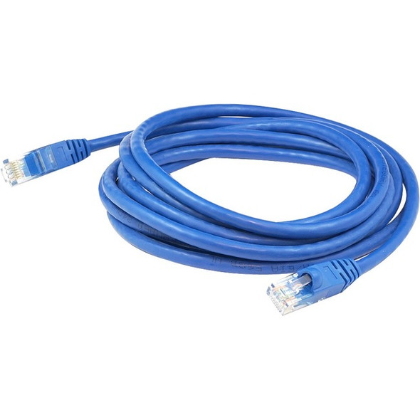 AddOn 10-pack of 150ft RJ-45 (Male) to RJ-45 (Male) Blue Cat6A UTP PVC Copper Patch Cables - ADD150FCAT6ABLUE10PK