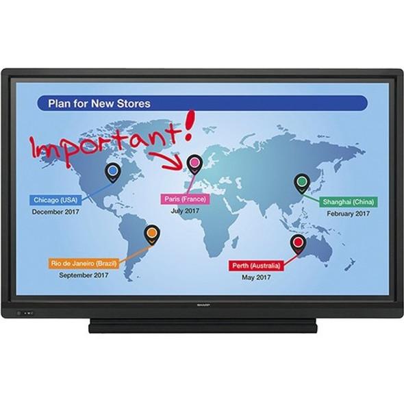 "Sharp AQUOS BOARD PN-L703W 70"" LCD Touchscreen Monitor - 16:9 - 6 ms GTG - PNL703W"