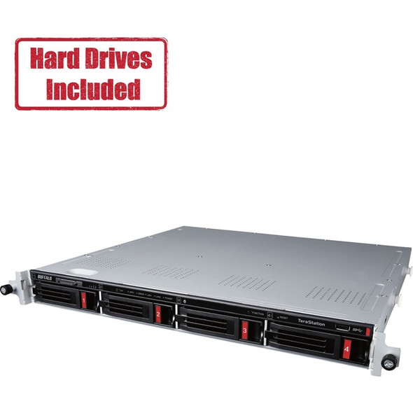 Buffalo TeraStation 3410RN Rackmount 4 TB NAS Hard Drives Included (2 x 2TB) - TS3410RN0402