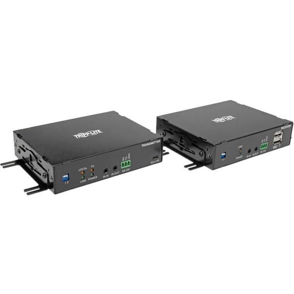 Tripp Lite DisplayPort Over Fiber Extender Kit 4K @ 30Hz IR USB Duplex SMF Singlemode TAA - B127F-1A1-SM-DD