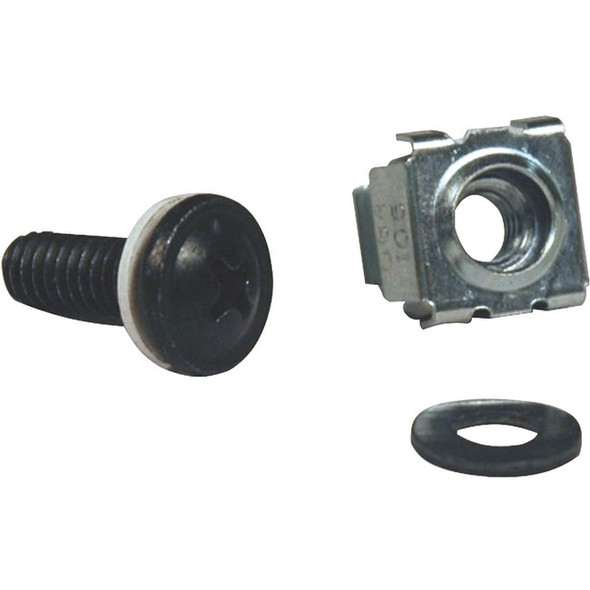 Tripp Lite Rack Enclosure Square Hole Hardware M5 Screws & Washers 50PC - SRCAGENUT5MM
