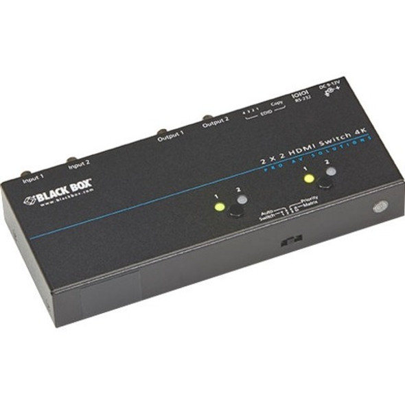 Black Box 4K HDMI Matrix Switch - 2 x 2 - VSW-HDMI2X2-4K