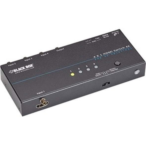 Black Box 4K HDMI Switch - 4 x 1 - VSW-HDMI4X1-4K