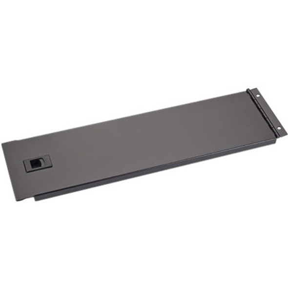 "Black Box IT Rackmount Hinged Blanking Panel - 3U, 19"", Black - RMTB03-H"