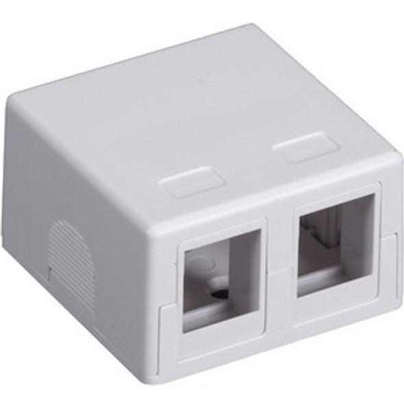 Black Box Value Line Surface-Mount Housing, 2-Port, White - SMH-2