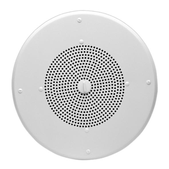 Valcom V-1020C Ceiling Mountable, Flush Mount Speaker - 1 W RMS - Semi-gloss White - V-1020C