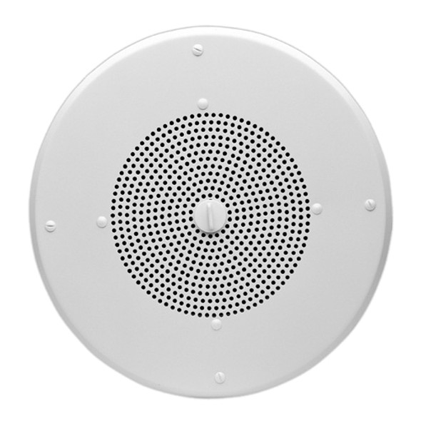 Valcom V-1020C Ceiling Mountable, Flush Mount Speaker - 1 W RMS - Semi-gloss White - V-1020C