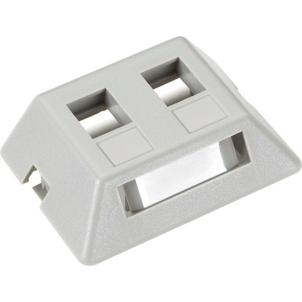 Black Box GigaStation2 Modular Furniture Wallplate - 2-Port, Gray - WPT461-MF