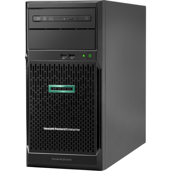 HPE ProLiant ML30 G10 4U Tower Server - 1 x Xeon E-2224 - 16 GB RAM HDD SSD - Serial ATA/600 Controller - P16930-S01