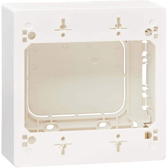 Tripp Lite Surface Mount Junction Box Cat5e/Cat6/Cat6a USB HDMI DisplayPort - N080-SMB2-WH