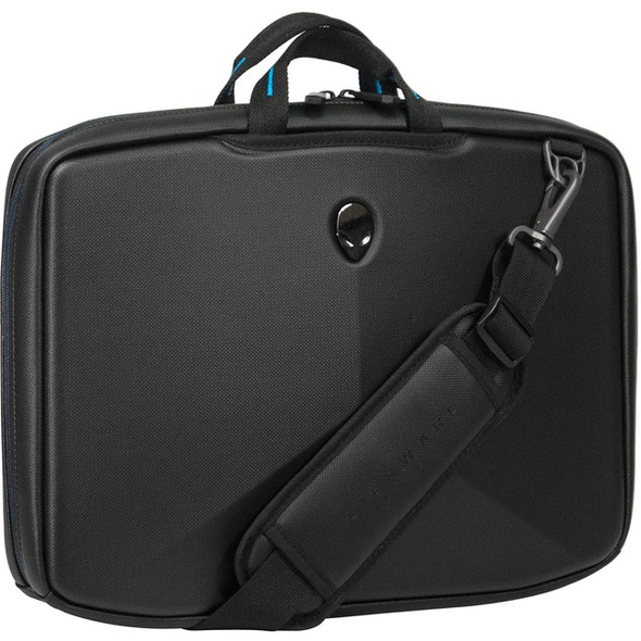 "Mobile Edge Alienware Vindicator AWV15SC2.0 Carrying Case (Briefcase) for 15.6"" Notebook - Black, Teal - AWV15SC-2.0"