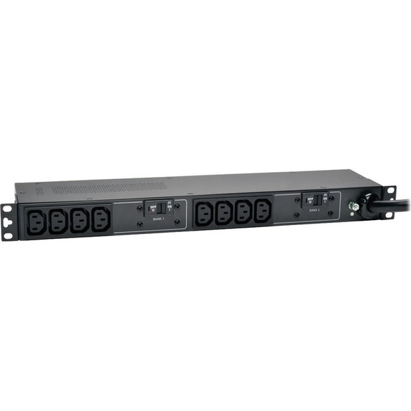 Tripp Lite PDU Basic 208V / 240V 30A 5/5.8kW C13 10 Outlet L6-30P Horizontal 1U - PDUH30HV