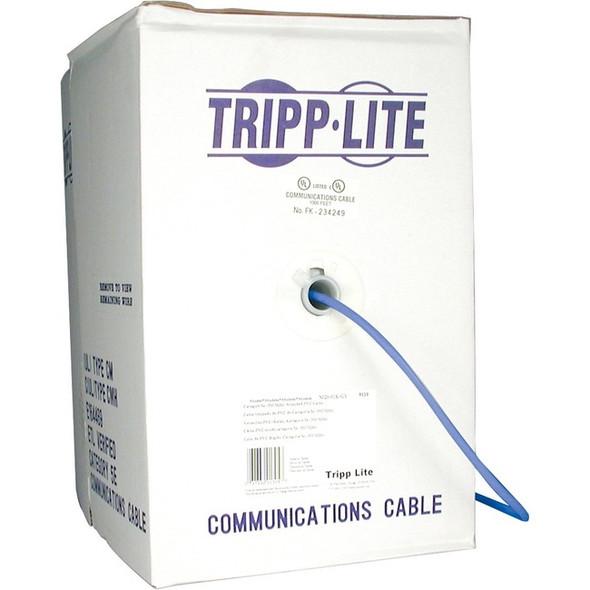 Tripp Lite 1000ft Cat5 / Cat5e 350MHz Bulk Stranded-Core PVC Cable Blue 1000' - N020-01K-BL
