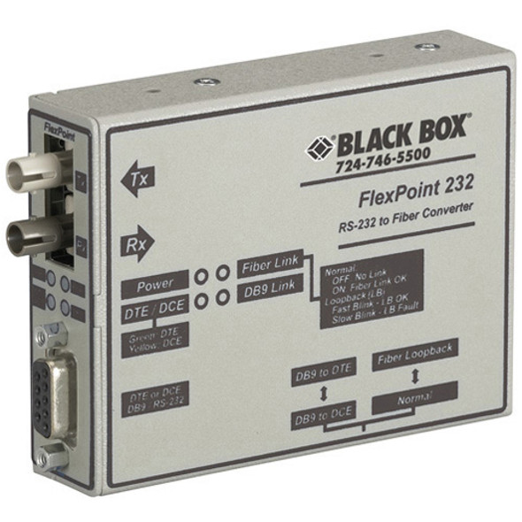 Black Box FlexPoint RS-232 to Fiber Converter - ME660A-MST