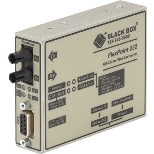 Black Box FlexPoint Modular Media Converter, RS-232 to Fiber, Single-Mode, 30 km, ST - ME662A-SST