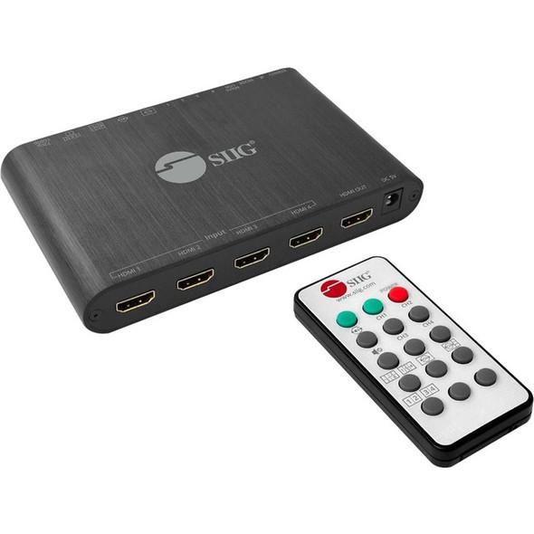 SIIG 4x1 HDMI Seamless Quad-Split Multi-Viewer Switcher - CE-H25R11-S1