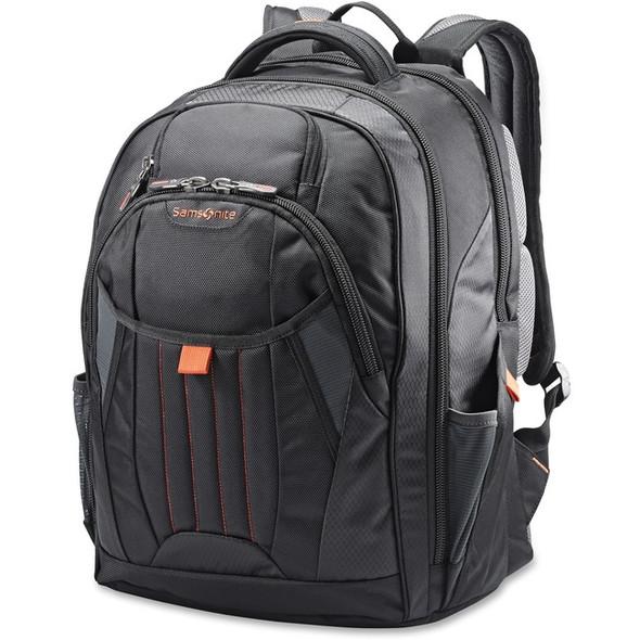 "Samsonite Tectonic 2 Carrying Case (Backpack) for 17"" Notebook - Black, Orange - 66303-1070"
