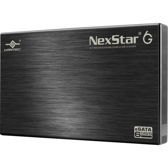 Vantec NexStar 6G NST-266SU3-BK Drive Enclosure - eSATA, USB 3.0 Host Interface - UASP Support External - NST-266SU3-BK