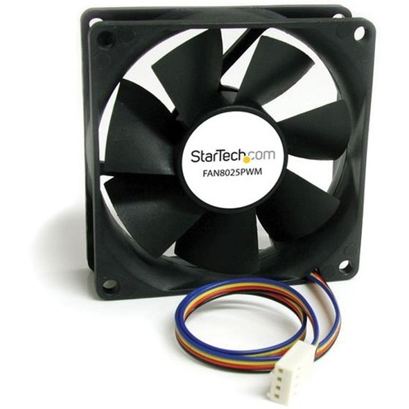 StarTech 80x25mm Computer Case Fan with PWM - Pulse Width Modulation Connector - FAN8025PWM