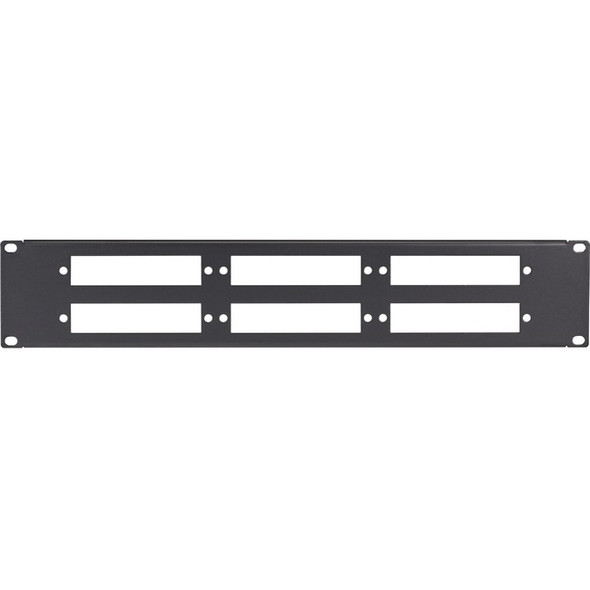 Black Box Connect Fiber Optic Panel - Blank, 1U, 6-Slot - JPMT-FIBER-6