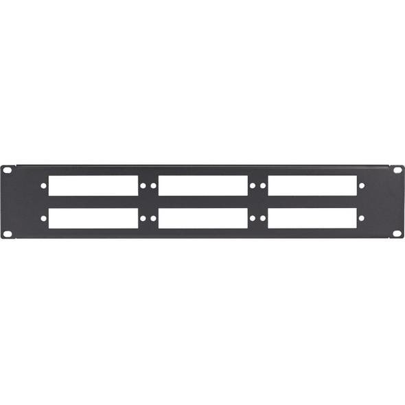 Black Box Connect Fiber Optic Panel - Blank, 1U, 6-Slot - JPMT-FIBER-6