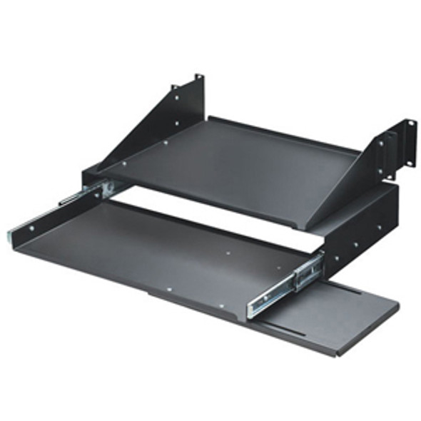 "Black Box RM028 19"" Keyboard Tray with Monitor Shelf - RM028"