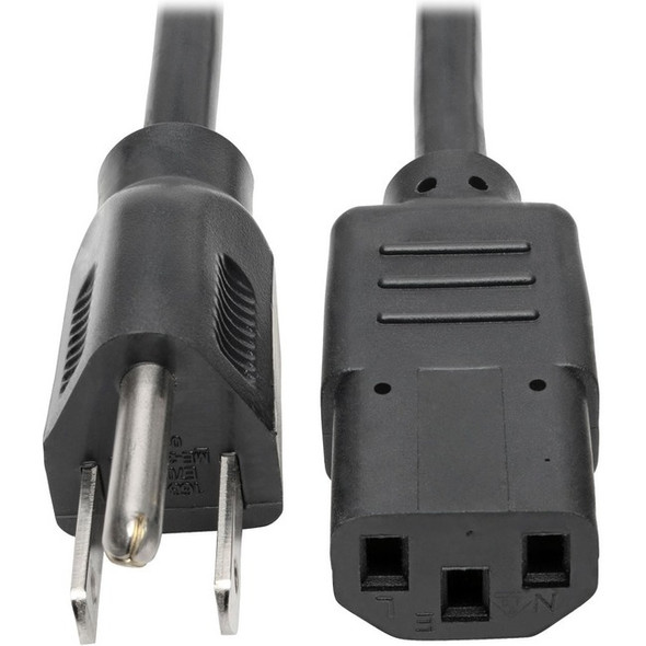 Tripp Lite 2ft Computer Power Cord Cable 5-15P to C13 13A 16AWG 2' - P006-002-13A