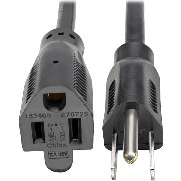 Tripp Lite 6ft Power Cord Extension Cable 5-15P to 5-15R 13A 16AWG 6' - P024-006-13A