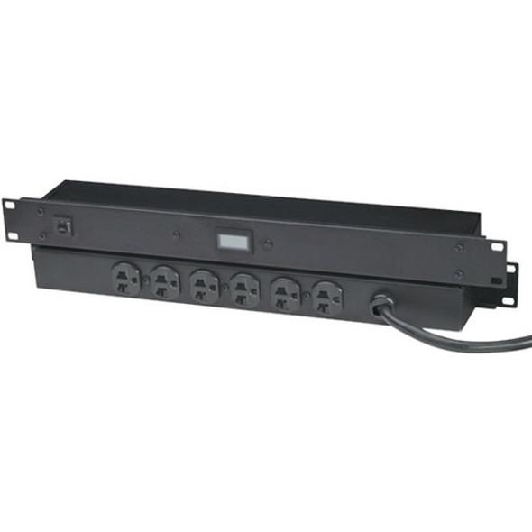 Black Box 20-Amp Power Strip with Digital Ammeter, Rackmount - PS365A-R2