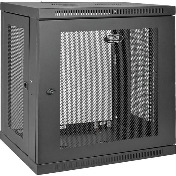 Tripp Lite 12U Wall Mount Rack Enclosure Server Cabinet w/ Door & Side Panels - SRW12U
