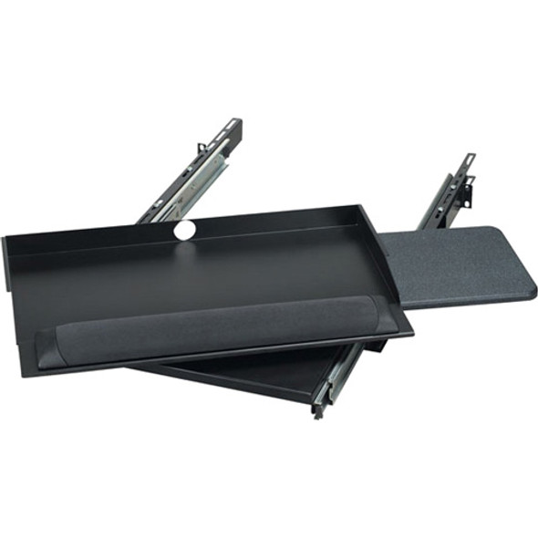 """Black Box RM385 19"""" Sliding Pivoting Keyboard Tray with Mouse Tray - RM385"""