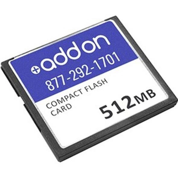 AddOn Cisco MEM-CF-256U512MB Compatible 512MB Flash Upgrade - MEM-CF-256U512MB-AO