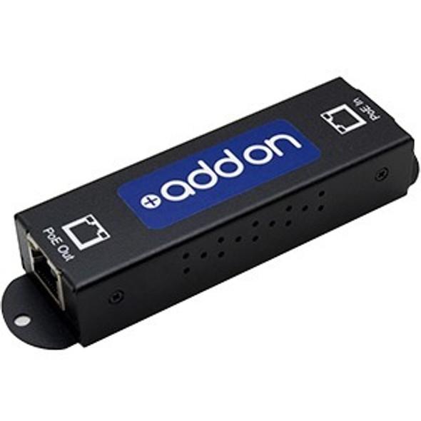 AddOn Gigabit PoE Extender: 1-Port In / 1-Port Out 10/100/1000M PoE Copper Ethernet RJ45 Extender for Cat5e or Better. - ADD-POE-EXT-1G