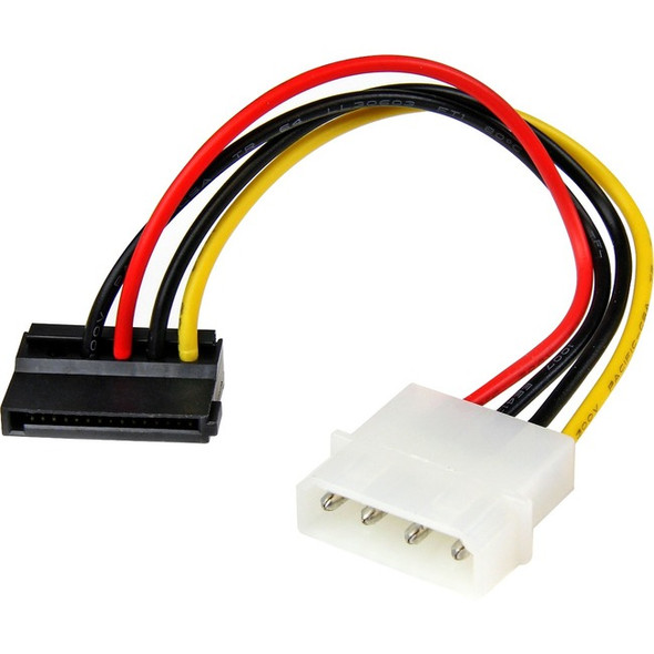 StarTech 6in 4 Pin LP4 to Left Angle SATA Power Cable Adapter - SATAPOWADPL