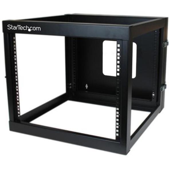 StarTech 8U 22in Depth Hinged Open Frame Wallmount Server Rack - RK819WALLOH