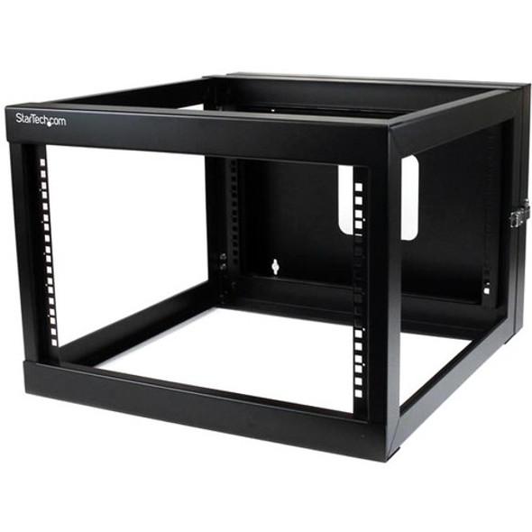 StarTech 6U 22in Depth Hinged Open Frame Wallmount Server Rack - RK619WALLOH