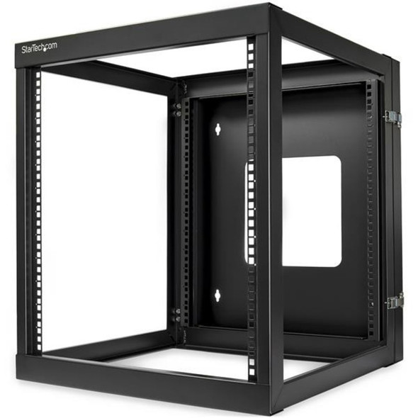 StarTech 12U 22in Depth Hinged Open Frame Wallmount Server Rack - RK1219WALLOH