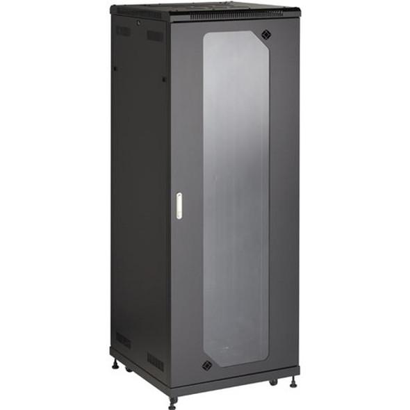 "Black Box Select Plus Split Rear Door Cabinet with Plexiglass Front, 42U, 30""W x 32""D - RM2555A"