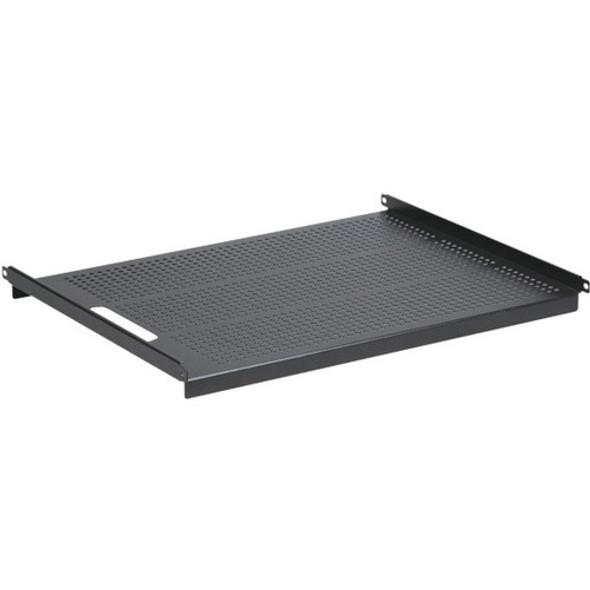 "Black Box 19"" IT Rack Vented Shelf - 1U, Fixed, 24.3""D, 4-Point Mount - RM315-R2"