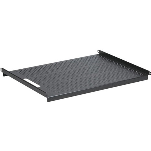 "Black Box 19"" IT Rack Vented Shelf - 1U, Fixed, 24.3""D, 4-Point Mount - RM315-R2"