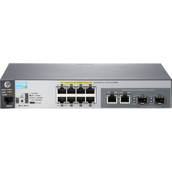 HPE 2530-8G-PoE+ Ethernet Switch - J9774A#ABA